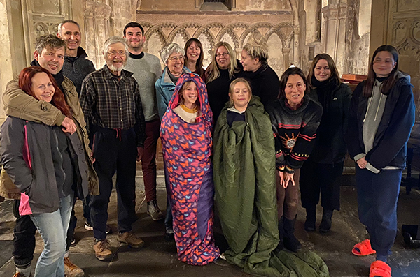 Opendoors Sleep Out team